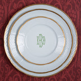 Sasha Nicholas Weave 24K Gold Salad Plate With Monogram