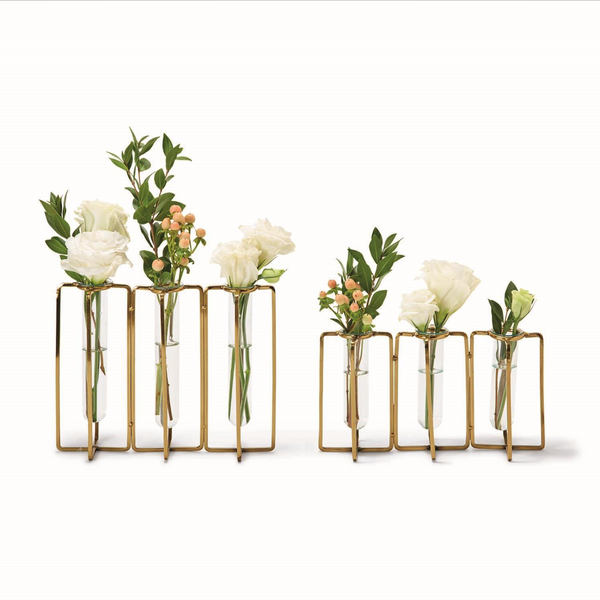 Lavoisier Golden Flower Vases