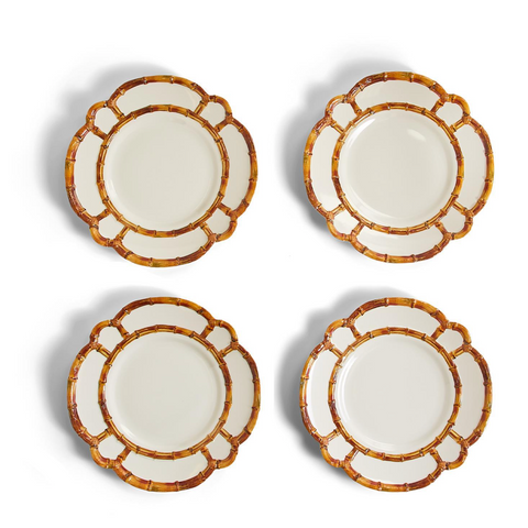 Bamboo Touch Plates Set of 4