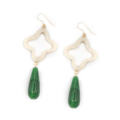 Hazen Siena Earrings, Emerald