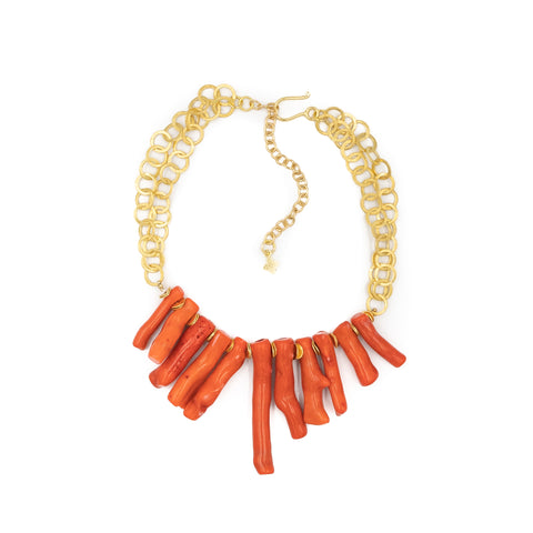 Hazen & Co. Tulum Necklace, Coral