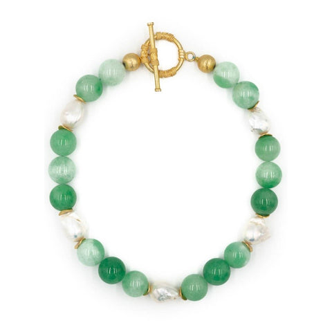 Hazen & Co. Annabelle Necklace, Green Jade
