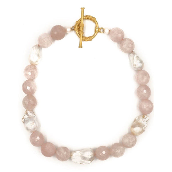 Hazen & Co. Annabelle Necklace, Rose Quartz