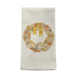 Fall Wreath Tea Towel