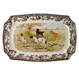 Spode Woodland Dog Scene Rectangular Platter