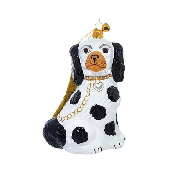 JingleNog Cavalier Greetings Ornament