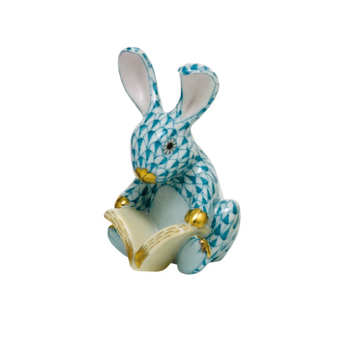 Herend Storybook Bunny, Turquoise