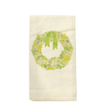 Green Wreath Tea Towel