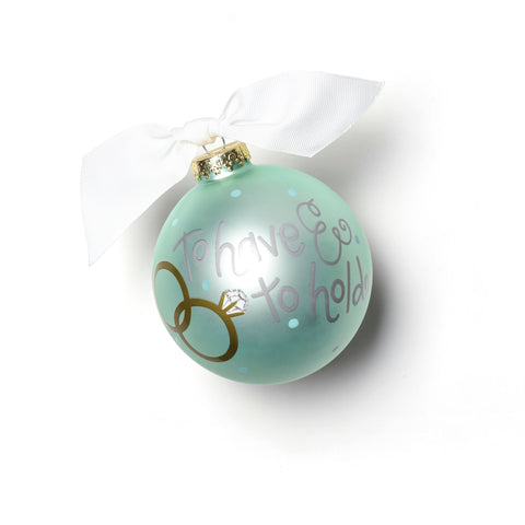 Coton Colors To Have And To Hold Glass Ornament