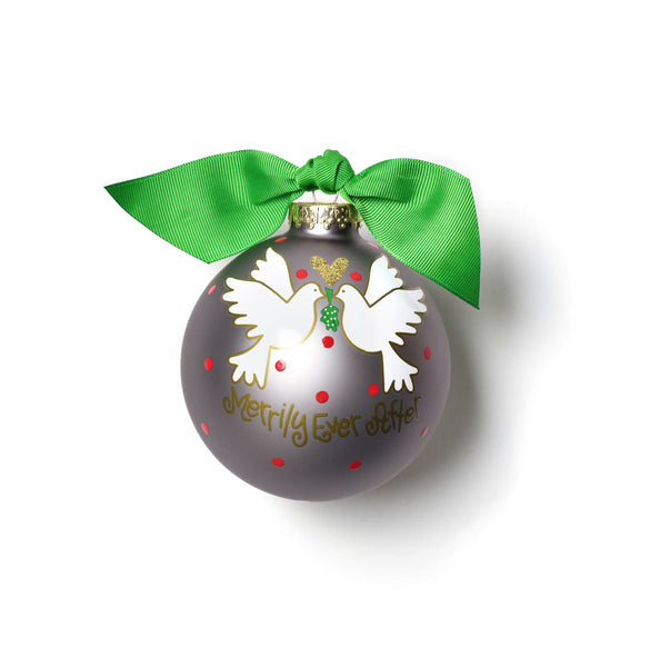 Coton Colors Merrily Ever After Glass Ornament