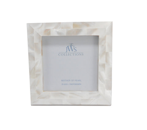 Mother of Pearl Frame, White