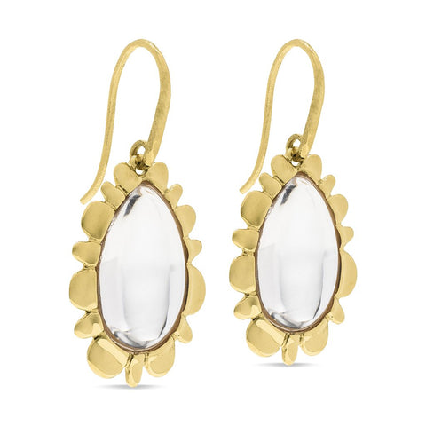 Capucine de Wulf Bliss Drop Earrings, Clear Quartz
