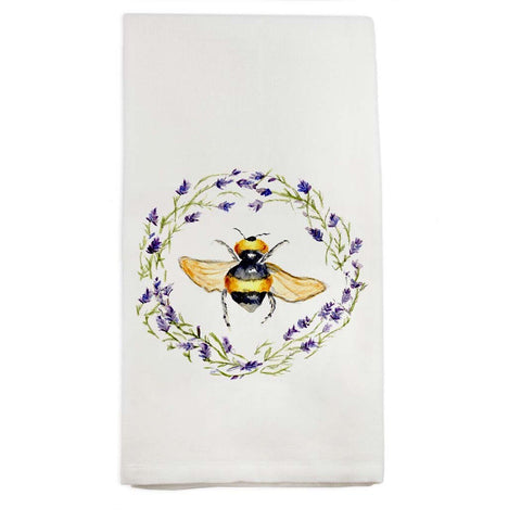 Bee with Lavender Tea Towel