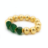 Hazen & Co. Carly Bracelet, Green Agate