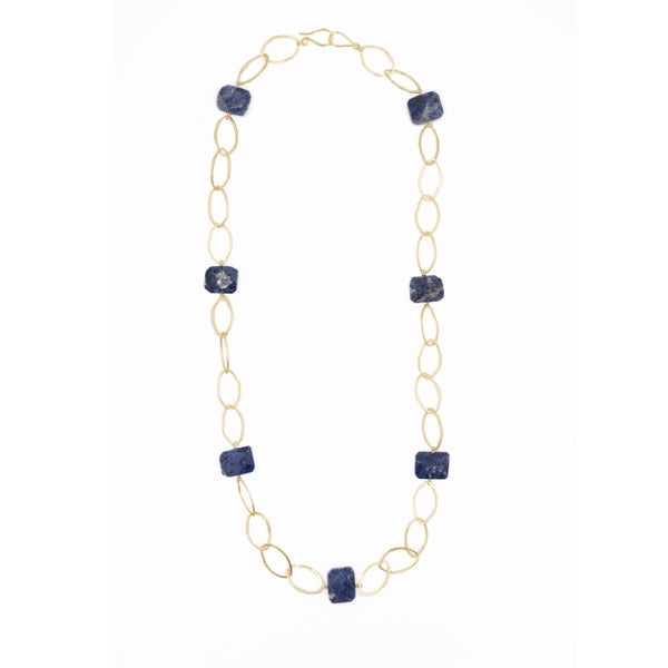 Hazen & Co. Ikat Necklace, Lapis