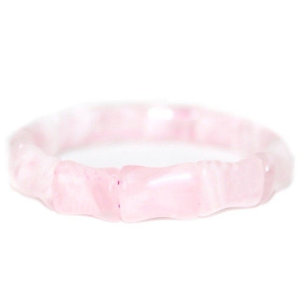Hazen & Co. Bamboo Bangle, Rose Quartz