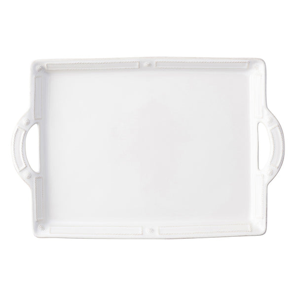 Juliska Berry & Thread French Panel Whitewash Handled Tray