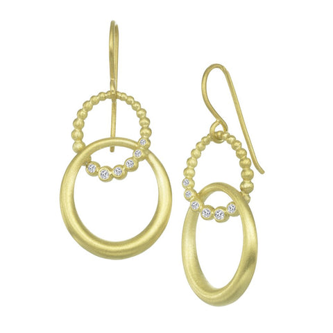 Suzy Landa Double Oval Drop Earring