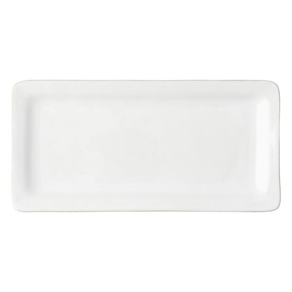 Puro White Rectangular Appetizer Platter