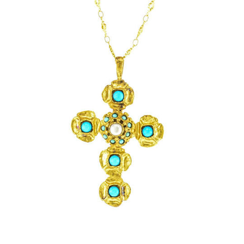 Deniz Turquoise Necklace