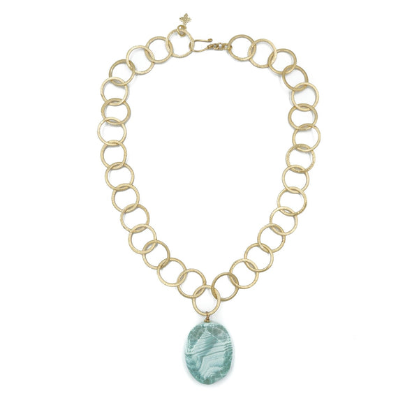 Hazen & Co. Leslie Necklace, Blue Agate