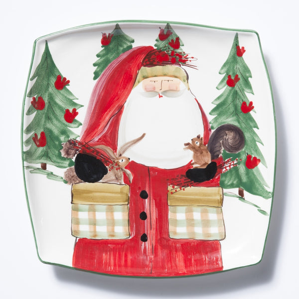 Vietri Old St. Nick, 2017 Limited Edition Square Platter
