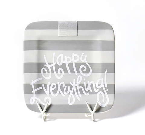 Happy Everything Stone Stripe Mini Platter