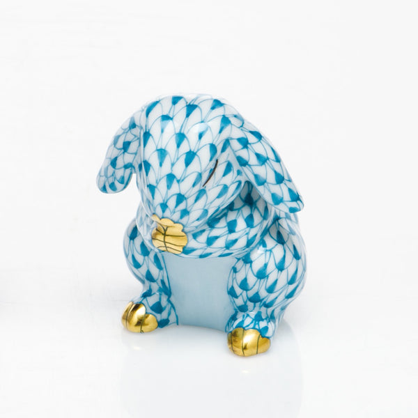 Herend Praying Bunny, Turquoise