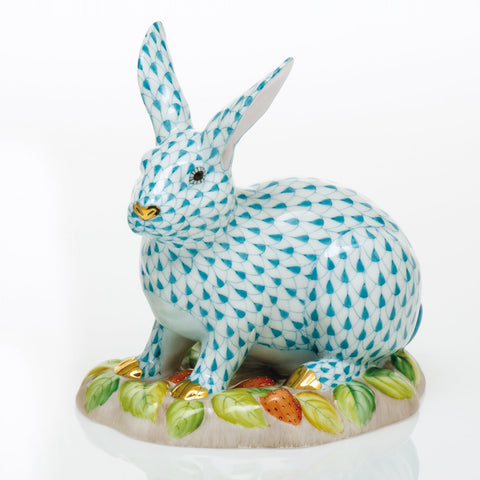 Herend Berry Bunny, Turquoise