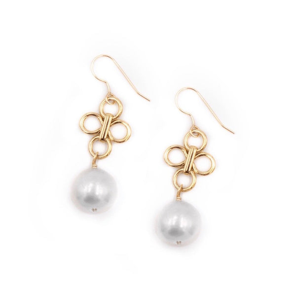 Hazen & Co. Ulla Earring, White Pearl