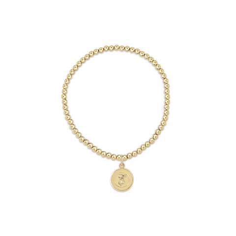 enewton Classic Gold 3mm Bead Bracelet - Respect Gold Disc
