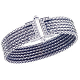Alisa Multi-Row Braided Basketweave Bangle