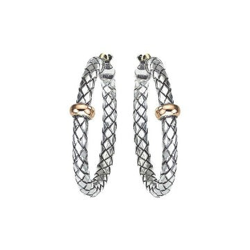 Alisa Traversa Medium Round Hoop Earring