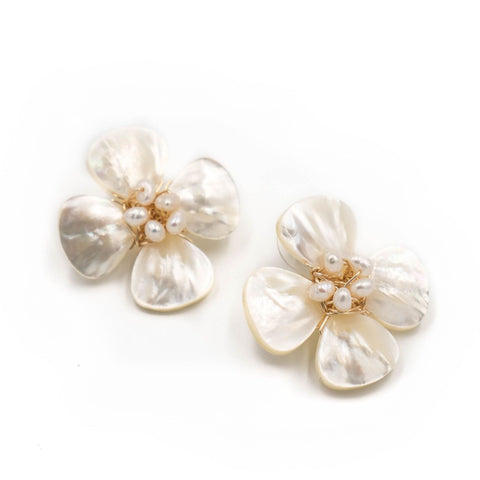 Hazen & Co. Poppy Earring, Pearl
