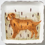 Vietri Wildlife, Hunting Dog Large Square Platter