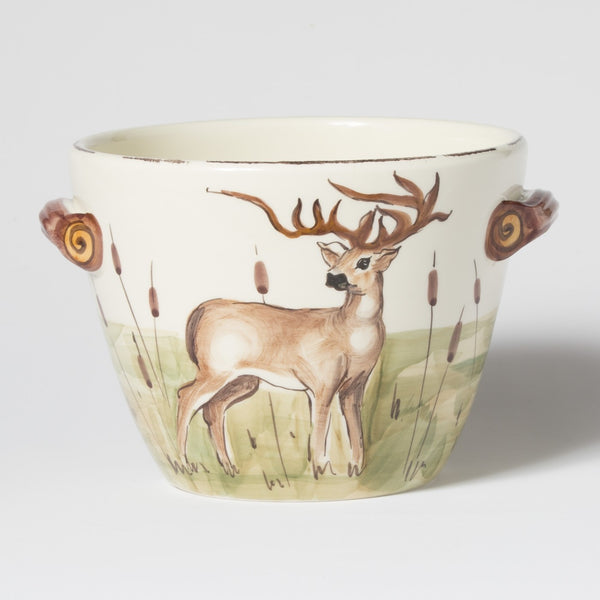 Vietri Wildlife, Handled Deep Serving Bowl
