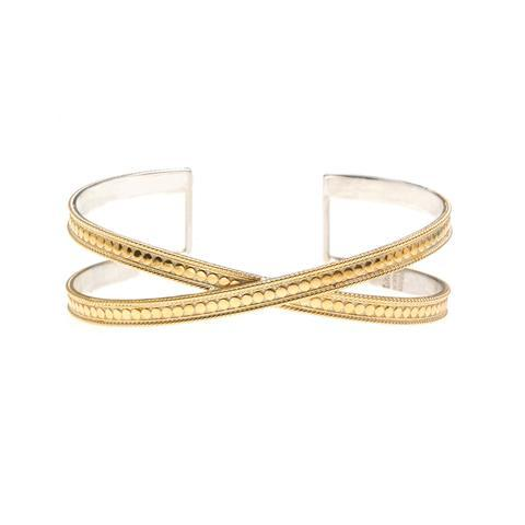 Anna Beck Gold Single Cross Cuff - ro-and-jewel