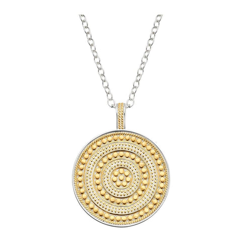 Anna Beck Circle of Life Charity Necklace (Reversible) Gold & Silver - ro-and-jewel