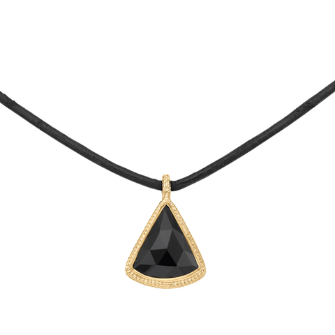 Anna Beck Black Onyx Triangle Pendant Choker - ro-and-jewel