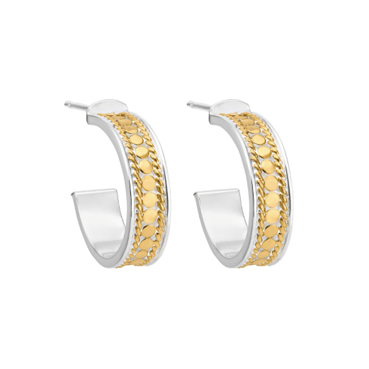Anna Beck Gold Hoop Post Earrings - ro-and-jewel