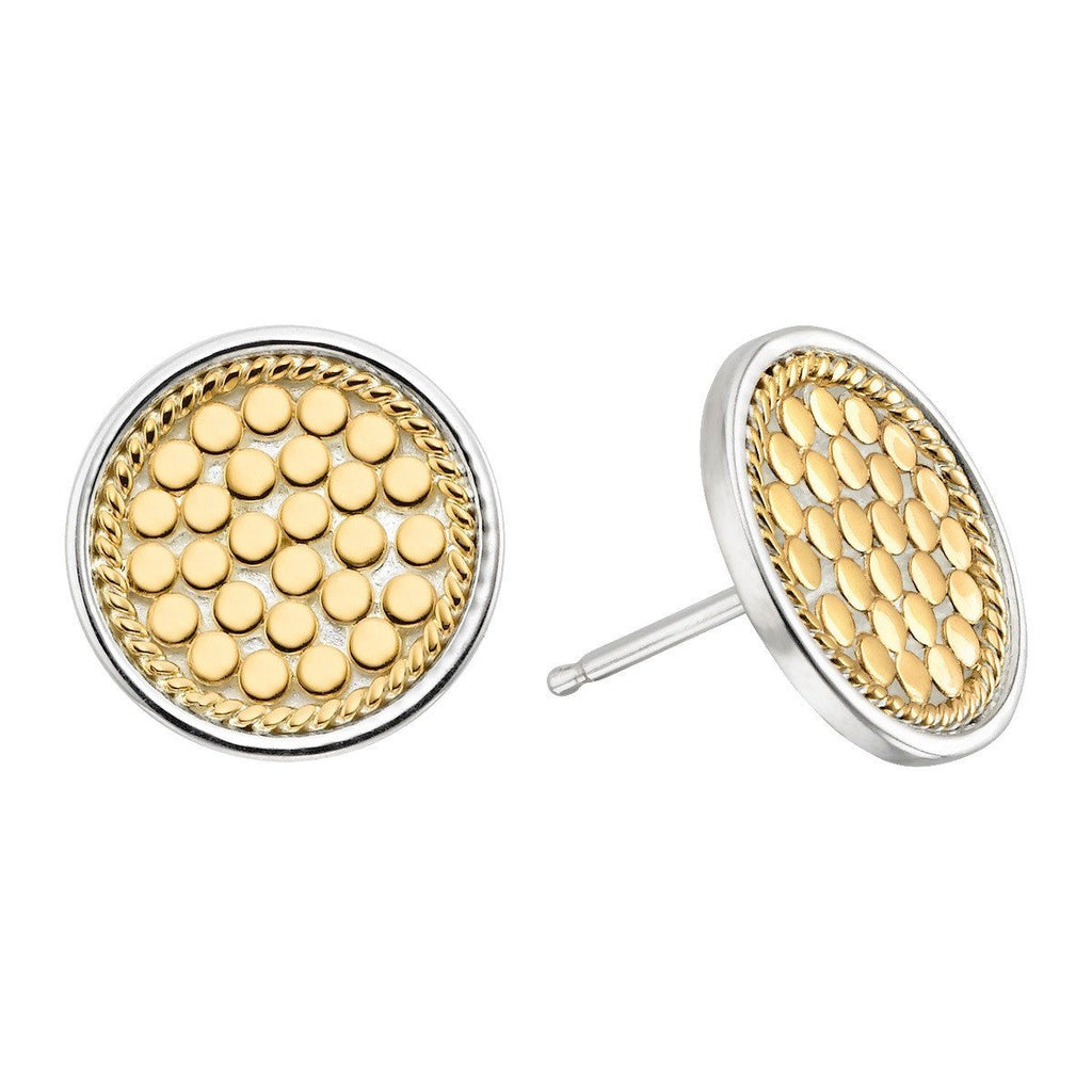 Anna Beck Gold Signature Circle Stud Earrings - ro-and-jewel