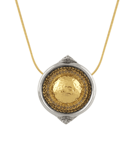 House of Harlow Golden Scutum Pendant Necklace - ro-and-jewel