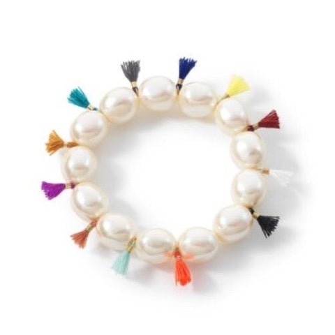 BuDhaGirl Coco Pearl Bracelet with Tiny Tassels - Ro & Jewel