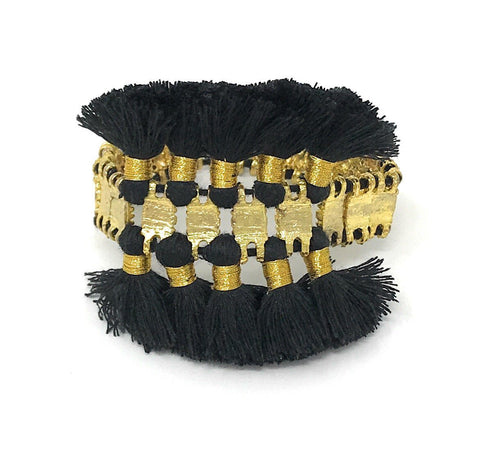 BuDhaGirl Fringe Black Bracelet Mini - Ro & Jewel