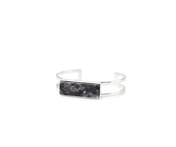 Jenny Bird Lizzie Cuff Silver/ Labradorite - ro-and-jewel
