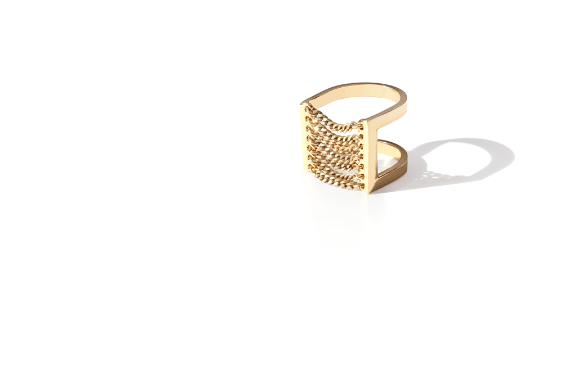 Jenny Bird Canopy Ring Gold - ro-and-jewel