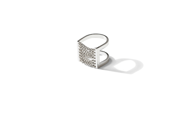 Jenny Bird Canopy Ring Silver - ro-and-jewel