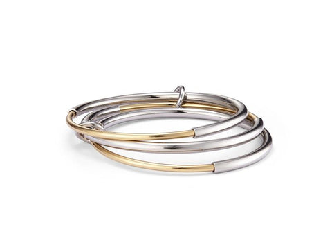 Jenny Bird Silver & Gold Lola Bangles - ro-and-jewel