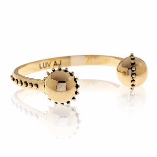 Luv AJ Rococo Open Bangle Gold Bracelet - ro-and-jewel