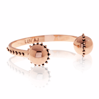 Luv AJ Rococo Open Bangle Rose Gold Bracelet - ro-and-jewel